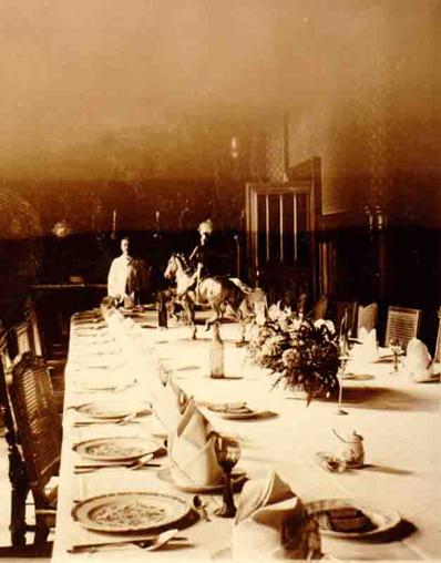salle manger du chteau de joeuf en 1917 durant son occupation par les allemands - Chateau De Wendel Hayange Mariage