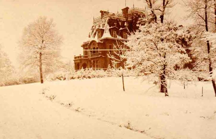 chteau de joeuf sous la neige en 1917 clich de source allemande - Chateau De Wendel Hayange Mariage